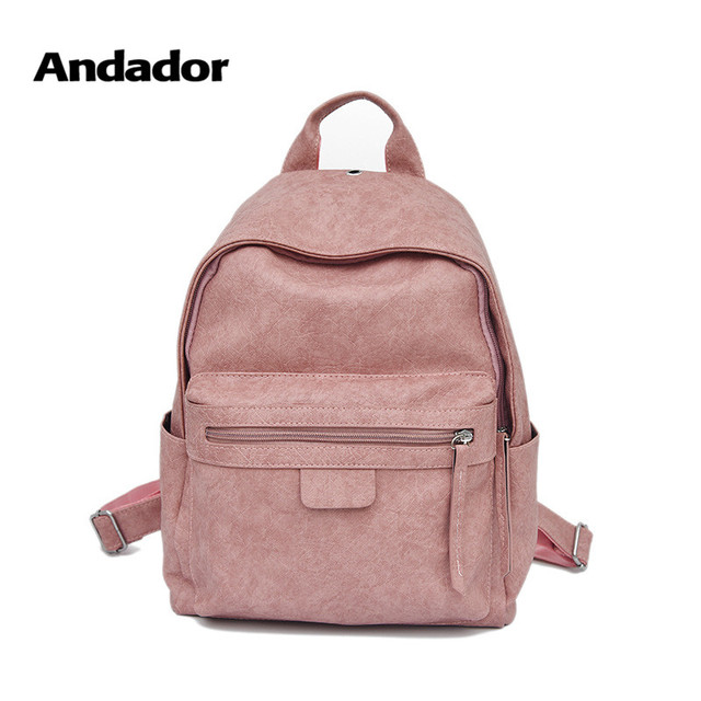 e70a81d209f2 New Fashion PU Teenager Girls Backpacks Popular Small Pink School Backpack 2019  High Quality Casual Bag