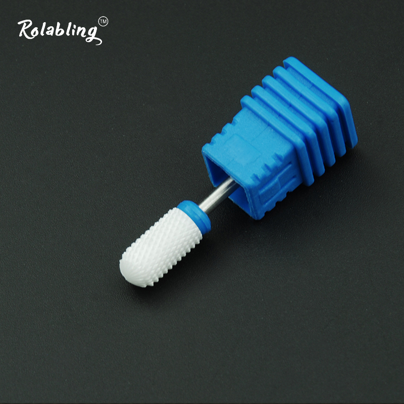 Rolabling 10PCS Nail Drill Bit Electric Nail Drill Machine Accessories Milling Cutters Manicure Set Pedicure Tools Ceramic File nail cutters set with bag