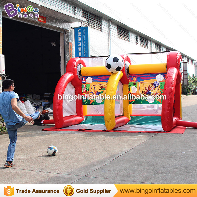 2017 Free Shipping Inflatable Kids Football Goal Inflatable Football Gate Shooting Games outdoor toys for children free shipping football goal portable goal kage 183x120x120 3kg