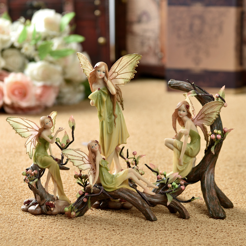 Resin Decoration Fairy Home Decoration Gift Fashion Home Decoration Craft Figurines Miniatures Resin Europe Fairy Nice Girl