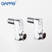 GAPPO Pipe Fittings Bathroom Copper Pipe Brass Fittings Pneumatic Reducer Extended Corner For Faucet Accessories Shower