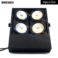 6 Pcs Lot Theater Lighting COB LED Flood Light 4eye 100w Led Matrix Blinder Light Led