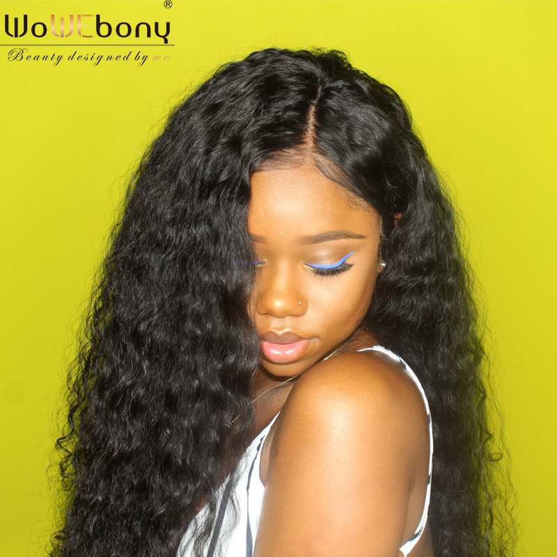 WoWEbony 150% Density 360 Lace Wigs Brazilian Virgin Hair Loose Curly Pre-plucked Hairline [360LC05]