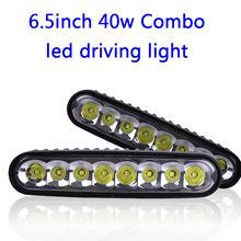 цена на 2pcs 40W DRL LED Work Light Bar Combo 7 Inch LED Offroad Car ATV 4WD Motorcycle Boat Driving Headlight Working Bar Off Road Bulb
