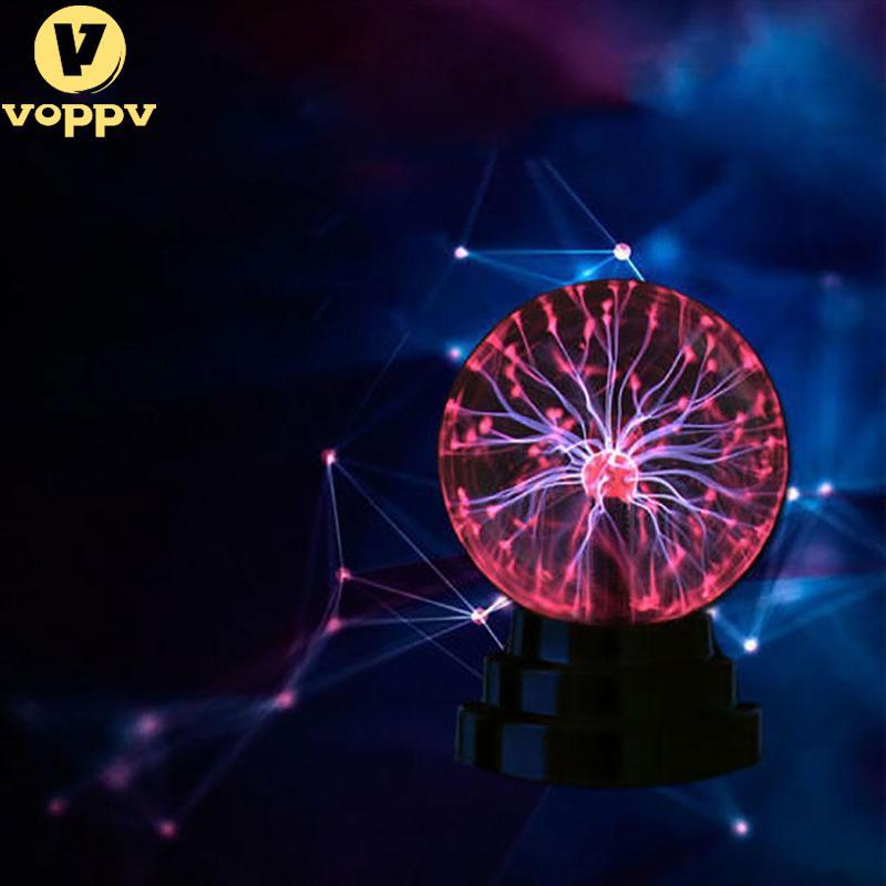 Новые 3 дюймов Магия USB Plasma Ball Сфера свет магия плазменный шар кристалл прозрачный свет лампы украшения дома BKD1432 ...