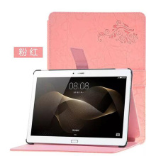 ocube Luxurious Folio Stand Cowl Flower Printing Sample PU Leather-based Case Cowl For Huawei MediaPad M2 10.zero Pill