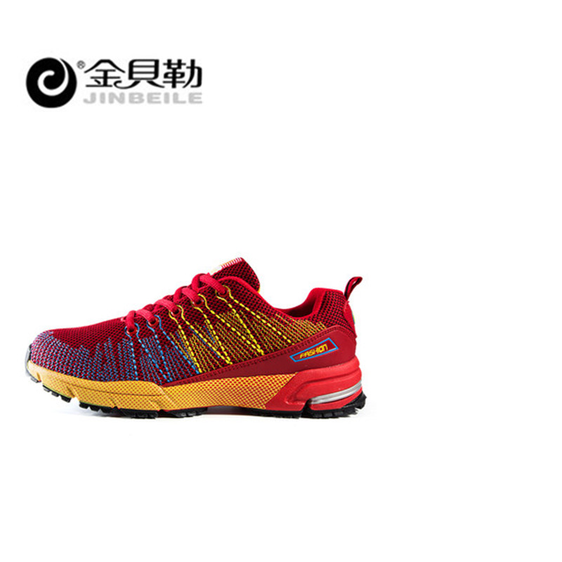 Jinbei, мужская спортивная обувь для бега, музыкальный ритм, мужские кроссовки, дышащая сетка, для улицы, спортивная обувь, светильник, мужская ... - 2