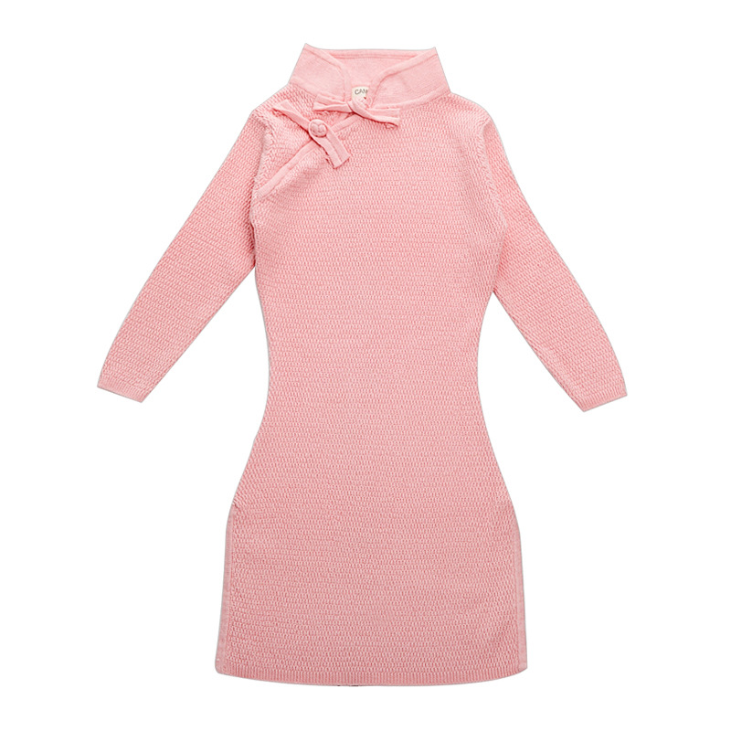 9011751bb13 Aliexpress.com   Buy Girls Winter Sweater Dresses Toddler Baby Girls Winter  Spring Qipao Chinese Year Dress Thicker Red Pink Cheongsam Sweater Dress  from ...