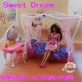 Принцесса кровать + красоты комплект / кукольный домик мебель головоломки детские игрушки декорации оригинальную коробку для барби Kurhn кукла подарок