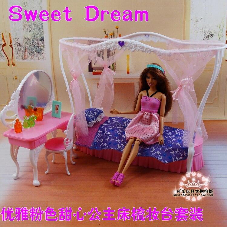 Princess Mattress + Dresser Set / Dollhouse Furnishings Puzzle Child Toy Equipment Ornament Unique Field for barbie Kurhn Doll Reward
