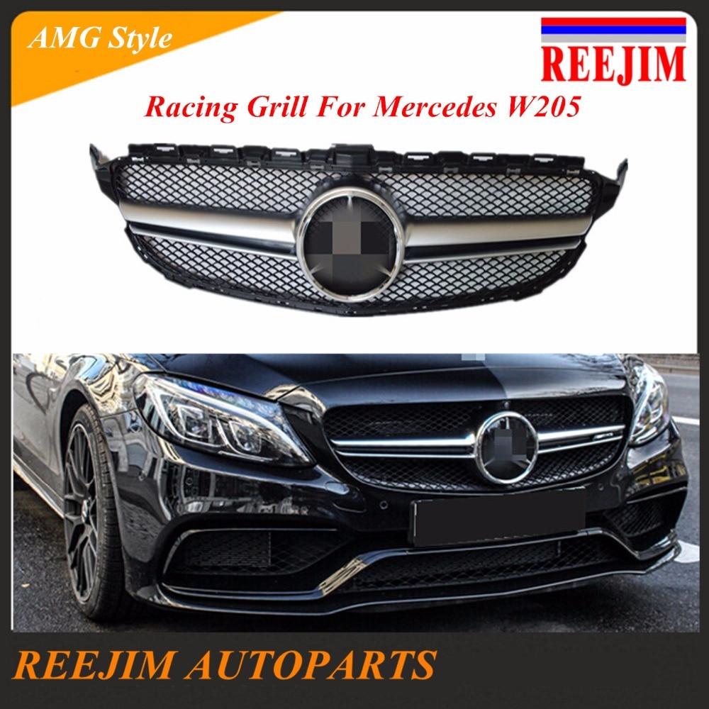 Plastica ABS Corse Grill Per Mercedes Benz C180 C200 C220