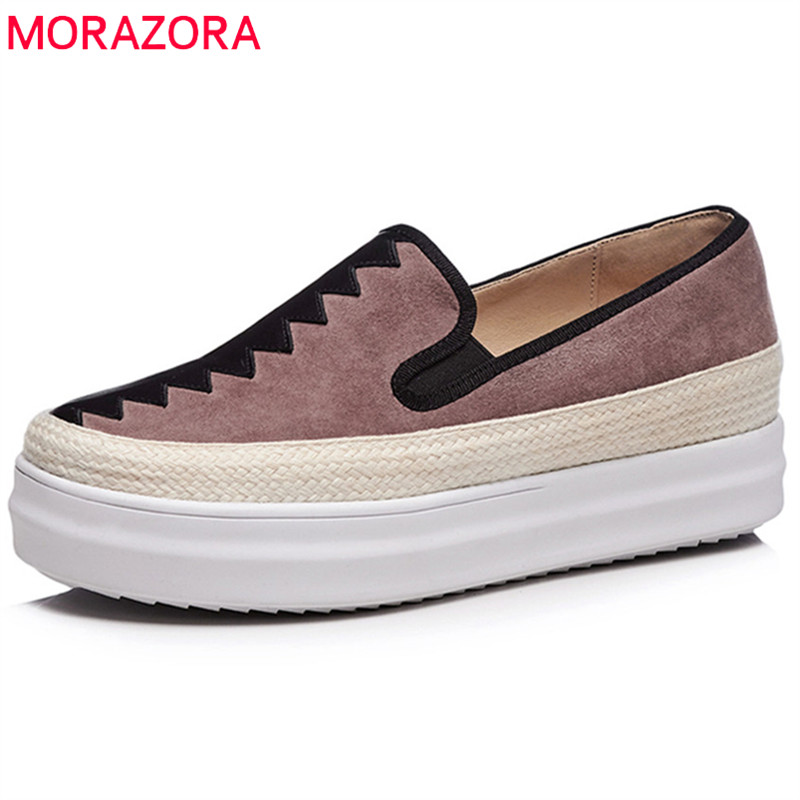 MORAZORA 2018 new arrival fashion mixed colors summer shoes round toe casual ladies shoes comfortable flat platform shoes woman minika new arrival 2017 casual shoes women multicolor optional comfortable women flat shoes fashion patchwork platform shoes