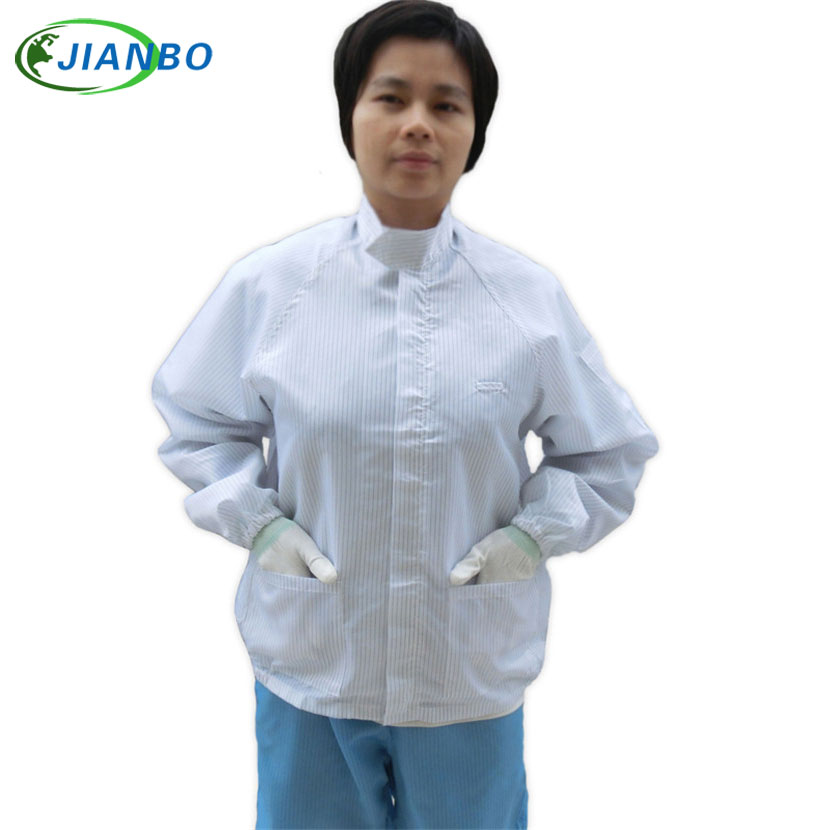 Antistatic Clothes Food Electronics Factory Jumpsuit Work Long Sleeves Jacket Wholesale Blue White