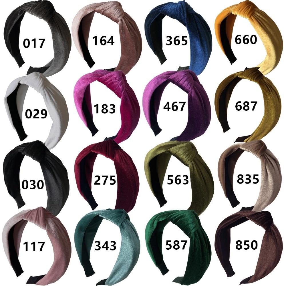 velvet heaband 16 colors