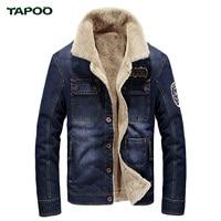 Brand New Denim Casual Jacket Coat For Men Spring Hot Sales Wholesales Blue Plus Cashmere Warm