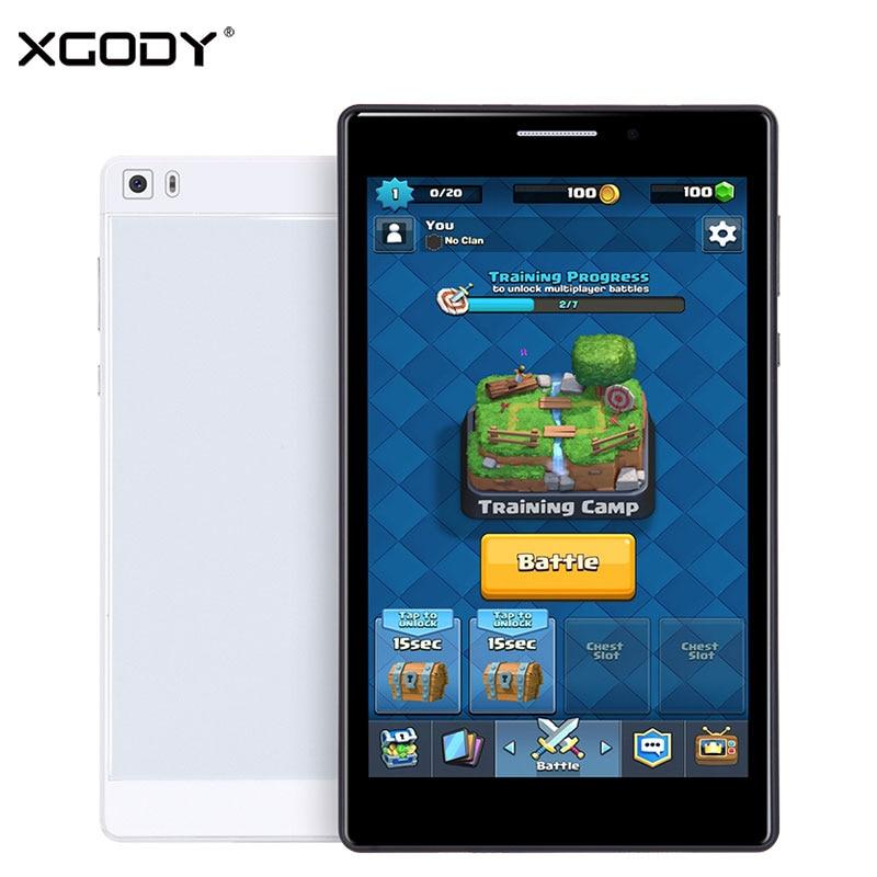 XGODY K8 3G Unlock Phone Call Tablet PC 7 Inch 2.5D Screen Android 5.1 MTK6582 Quad Core 1G RAM 16G ROM Tablet 8.0MP 4500mAh OTG
