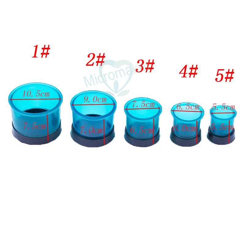 5 Size Dental Lab Tools Blue Flasks Rings Plastic Casting Flasks Rings Round Formers Base Wax(China)