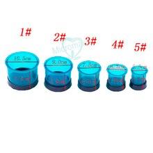 5 Размер зубные лабораторные инструменты синий колбы кольца пластик литье колбы кольца круглые Formers базовый воск