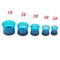 5 tailles outils de laboratoire dentaire flacons bleus anneaux en plastique coulée flacons anneaux ronds Formers Base cire