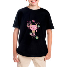 2017 SUMMER T-SHIRT FOR BOY SHORT SLEEVE BRAND CLOTHING CTUE LITTLE SWEET CAT PUSSY CHILD T-SHIRTS FOR GIRLS TOPS TEES SHIRT