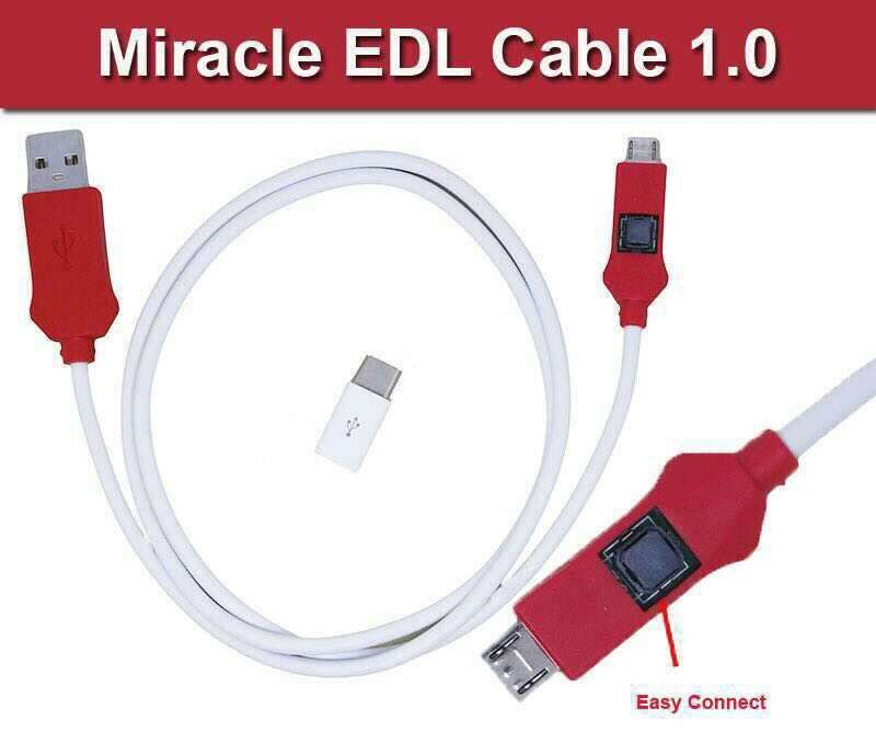 MIRACLE EDL CABLE For Xiao Mi And Qualcomm Flash And Open For 9008 Port
