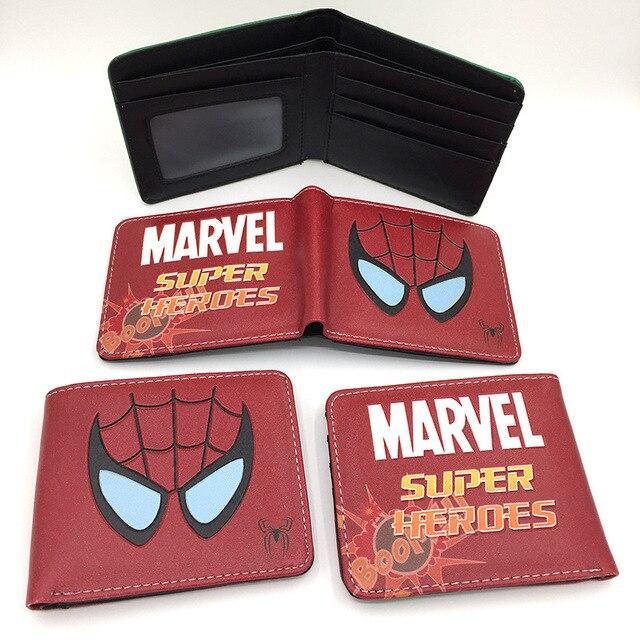 new cute super heroes wallet marvel pu purse wallets lovely superman batman ironman spiderman dealpool hulk children card holder Kids Wallets