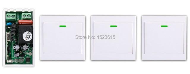 Neue digitale Fernbedienung Schalter AC220V Empfänger + 3 * Wand ...