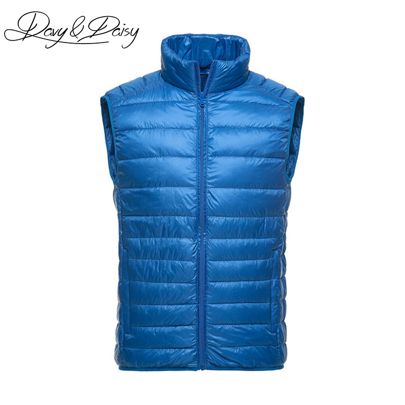 DAVYDAISY High Quality Waistcoat Men Early Winter Ultralight Stand Collar Duck Down Padded Warm Vest Men Sleeveless Coat DCT 178-in Vests & Waistcoats from Men's Clothing