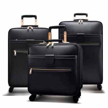 LeTrend Men Business Rolling Luggage Spinner 16 inch Cabin Trolley Password Suitcase Wheels High capacity Travel Bag Trunk - DISCOUNT ITEM  35% OFF All Category
