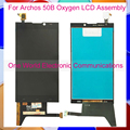 """Smartphone Black 5.0"""" For Archos 50B Oxygen Full LCD Screen Display Digitizer With Touch Screen Complete Assembly Tracking Code"""