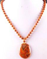 Новая мода 100% натуральный красный вен оникс бисер Цепочки и ожерелья Подвеска Бесплатная доставка Q001