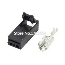 5 PCS  1 hole plastic parts car connector with terminal DJ70120Y-6.3-21