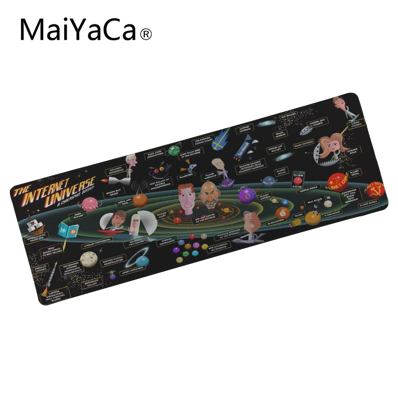 MaiYaCa Comics wallpaper 900x400 MM Large Mouse Pad Notbook Computer keyboard pad Mouse Anti-slip Natural Rubber Mousepad