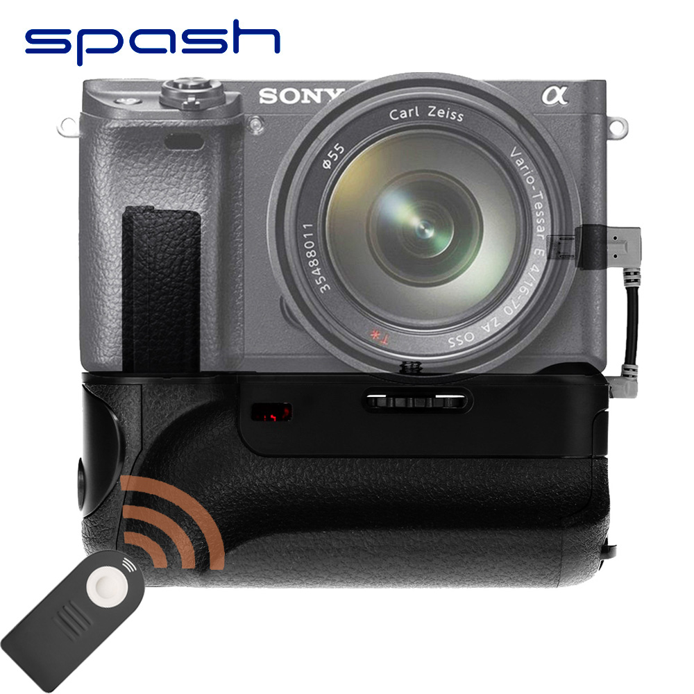 spash Vertical Battery Grip for Sony A6000 Mirrorless Digital Camera Work with NP-FW50 Multi-power Battery Handgrip BG-3DIR