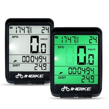 INBIKE Bicycle Digital Computer Speedometer Bike Wired Wireless Odometer Rainproof Stopwatch Accessories