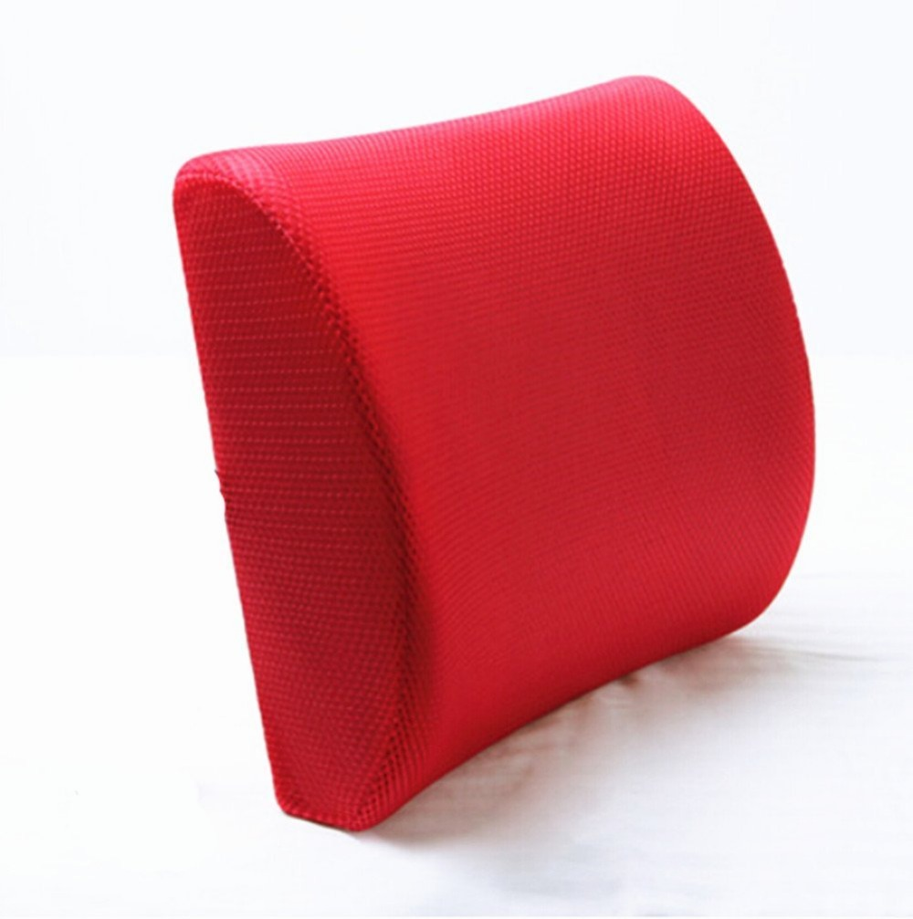 Red High Resilient Memory Foam Seat Back Lumbar Cushion