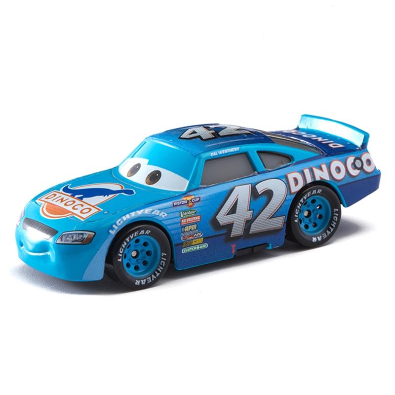 Disney Pixar Cars 2 3 No.42 Racing Car Lightning McQueen Jackson Storm Cruz Mater 1:55 Diecast Metal Alloy Model Car Toy Gifts
