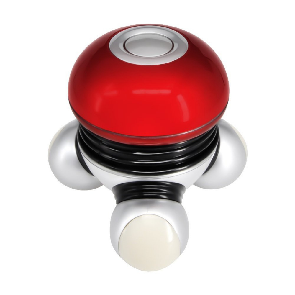 Chialstar Powerful Mini Electric Massager Vibrator Portable Full Body Vibrating Massage with Led Light 2017 mini mushroom head shape electric handled wave vibrating massager usb battery full body massage