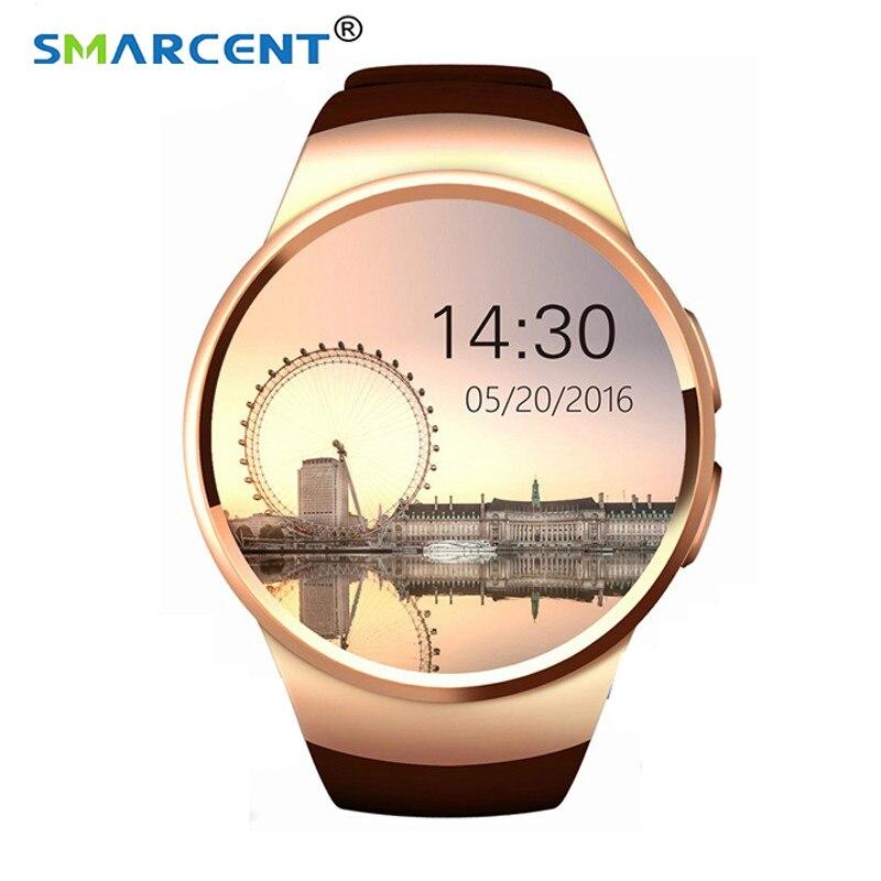 KW18 montre intelligente prise en charge SIM TF carte moniteur de fréquence cardiaque MTK2502 Smartwatch pour apple samsung Android IOS smartwatch portable