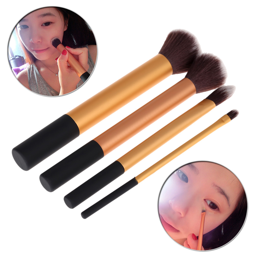 Professional 4Pcs Makeup Brushes Set Foundation Eyeshadow Brushes Cosmetic Brushes Beauty Tools Maquiagem