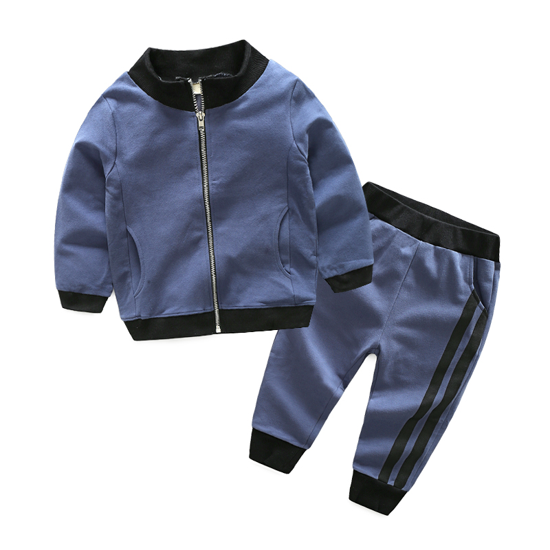 Baby Boys Spring Autumn Clothing Sets Solid Zipper Tracksuits Jackets+Pants 2PCS Sports Suit for A Boy Kids Christmas Outfits spiderman suit children boys clothing set baby boy spider man sports suits kids clothing 2pcs sets spring autumn tracksuits