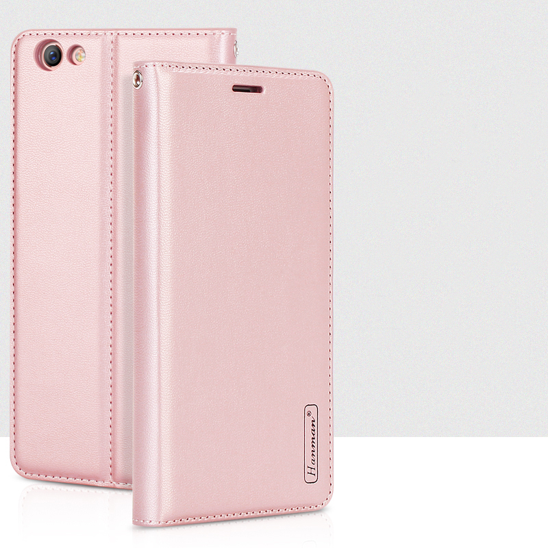 Hanman for OPPO A57 A39 Leather Wallet Case Magnetic Close Stand Bag Capa Shell Flip Back Cover Card Slot for OPPO A57 A39