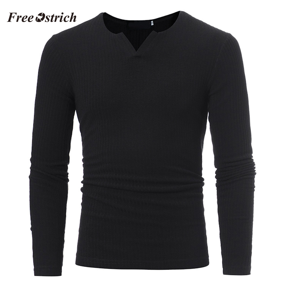 Sweaters Blouse V-Neck Autumn Winter Men's Casual Fashion Slim Free for Athleisure Tops