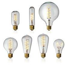 Bombilla LED Edison E27 4 W, lámpara de filamento Industrial regulable, lámpara de vidrio retro para fiestas, candelabro, decoración de iluminación