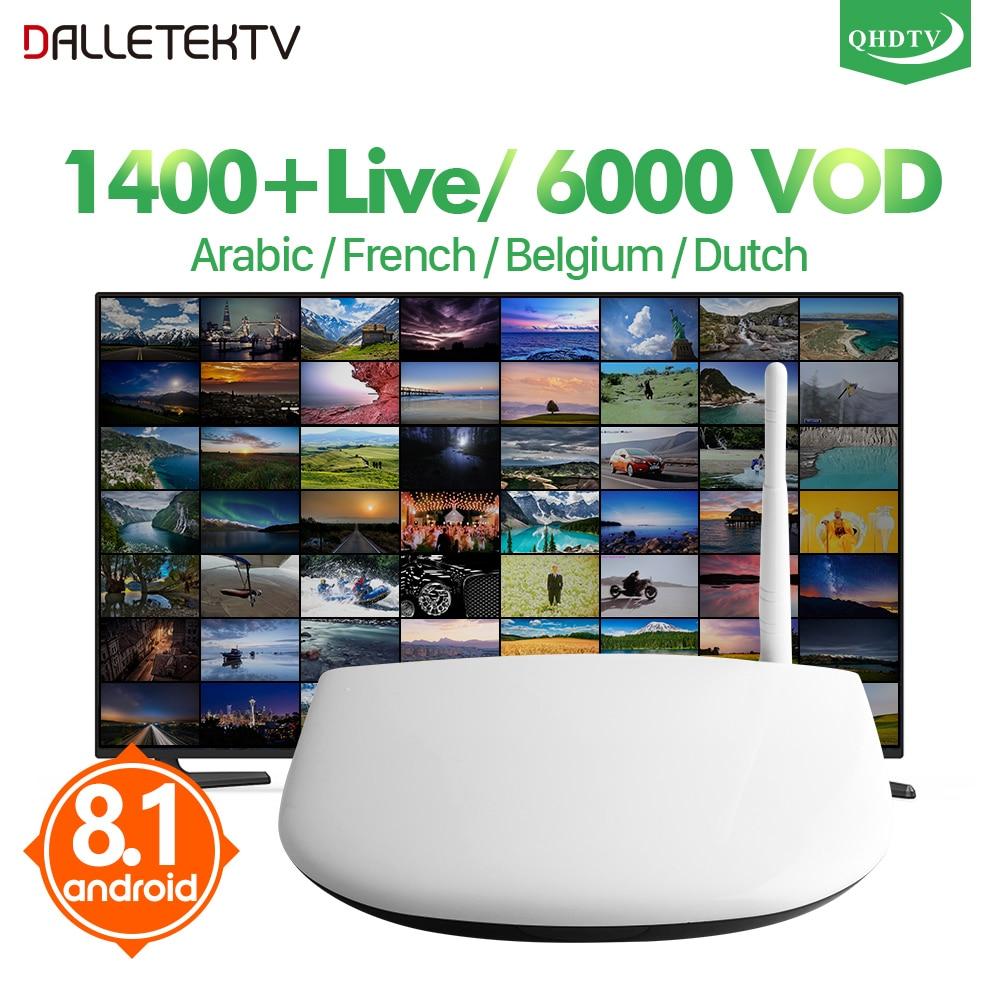 IPTV Europe French Arabic IPTV Box 1 Year QHDTV IPTV Netherlands UK Spain Q1304 Smart Android 7 1 IPTV France Belgium Box