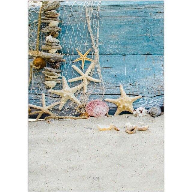 2017 поли-Винил-летом солнце морской пляж фото студия фон 5x7ft винил цифровой ткань голубое небо фотографии фонов P0956