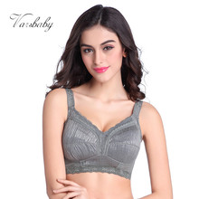Varsbaby new full cup wire free large size bra minimizer underwear thin cup solid