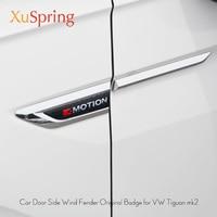 For VW Tiguan 2016 2017 2018 2019 mk2 Car Side Wing Fender Emblem Badge with 4 Motion Sticker Trim Original Styling
