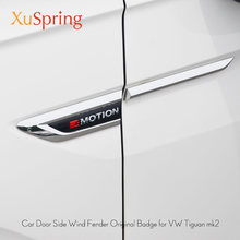 Voor VW Tiguan 2016 2017 2018 2019 2020 mk2 Auto Zijvleugel Fender Embleem Badge met 4 Motion Sticker Trim originele Styling(China)