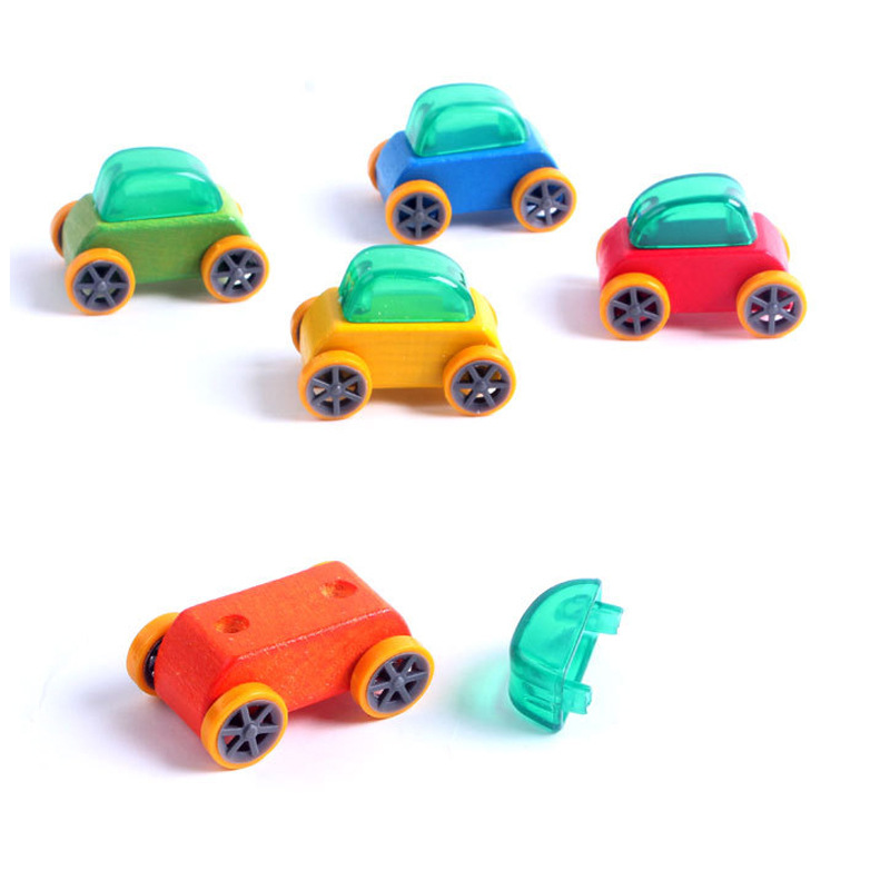3pcs/set Wooden Sliding Candy Car Beech Model Toy Children Teaching Mini Car Toys Kids Present